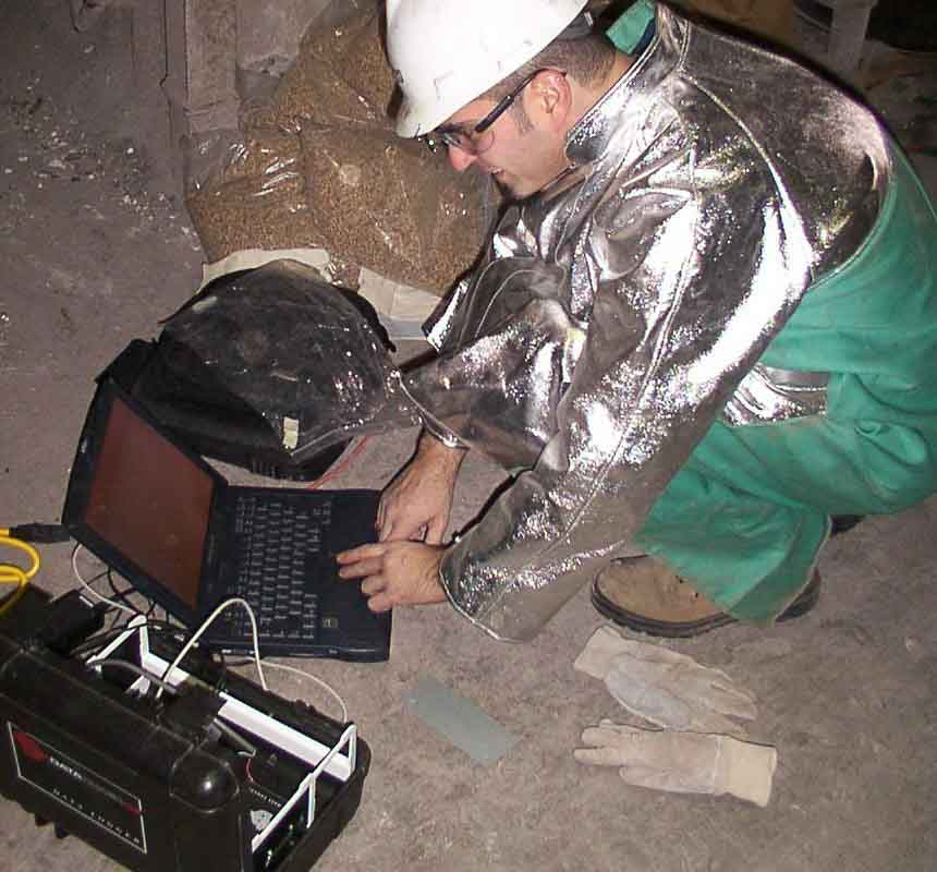 Service Work at a Steel Mill