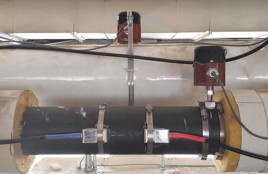 Clamp on BTU Meter on Heating System