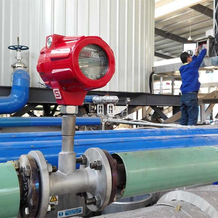 A Mass Flow Meter System installed